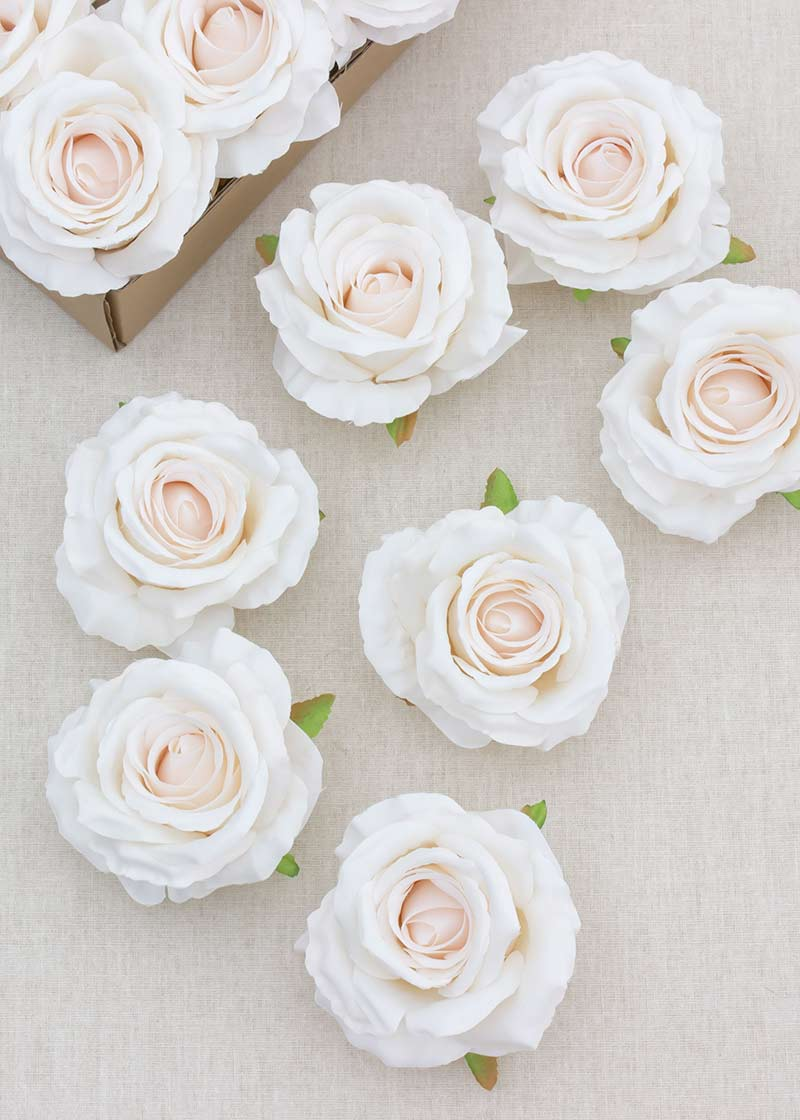 """3.9"""" Artificial Rose With Stems Box Of 25"""